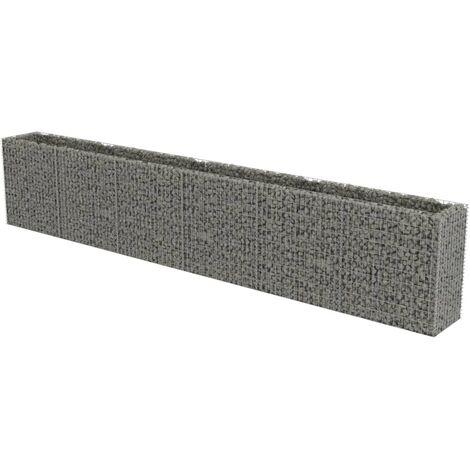 Jardinière à gabion Acier galvanisé 540 x 50 x 100 cm