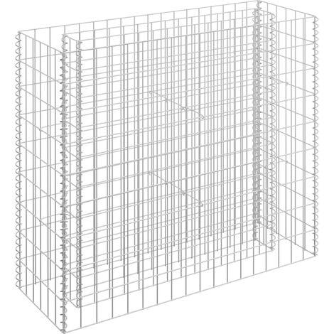 Jardinière à gabion Acier galvanisé 90x30x90 cm