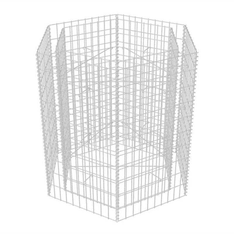 100 90 Jardinière Cm X Gabion À Hexagonale 4j35ARL