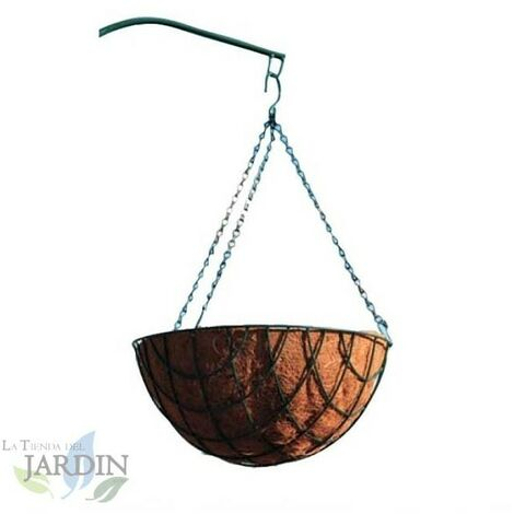 Jardinière à suspendre en noix de coco 35 cm