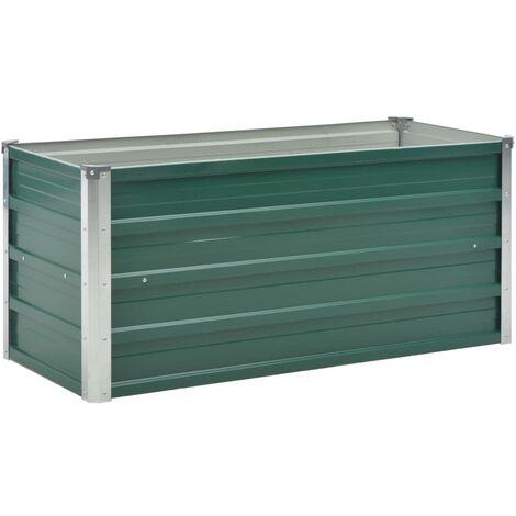 Jardinière Acier galvanisé 100 x 40 x 45 cm Vert