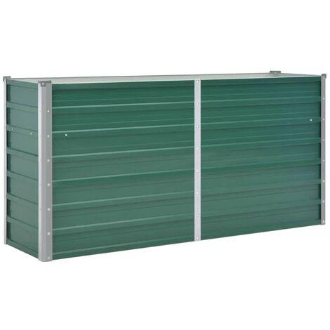 Jardinière Acier galvanisé 160 x 40 x 77 cm Vert