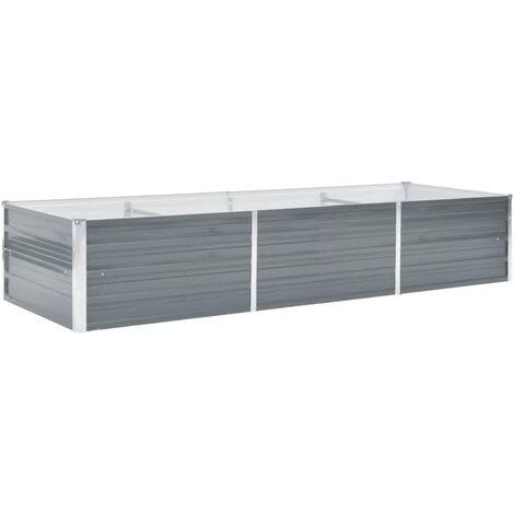 Jardinière Acier galvanisé 240 x 80 x 45 cm Gris