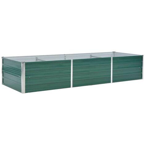 Jardinière Acier galvanisé 240 x 80 x 45 cm Vert