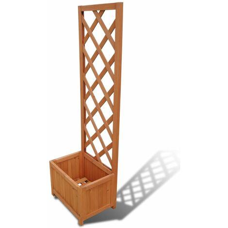 jardini re avec treillis 40 x 30 x 135 cm 41297. Black Bedroom Furniture Sets. Home Design Ideas