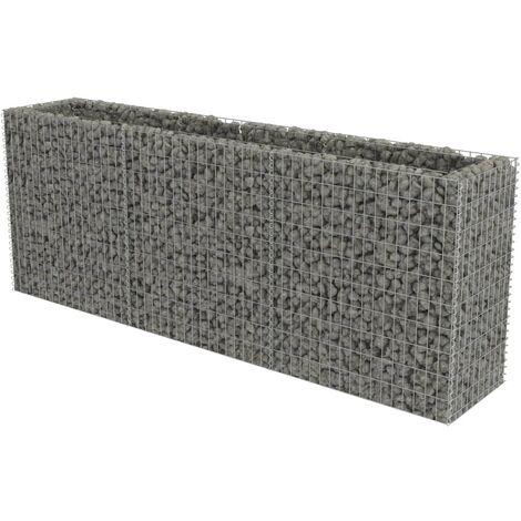Jardinière en gabion Acier galvanisé 270 x 50 x 100 cm