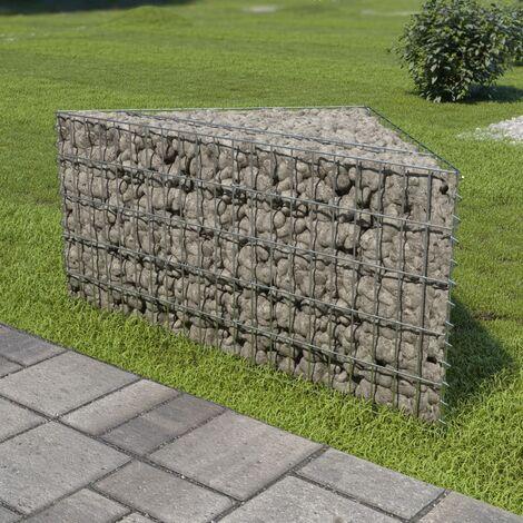Jardinière en gabion Acier galvanisé 75 x 75 x 50 cm