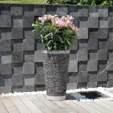 Jardiniere en pierre - ardoise conique 80