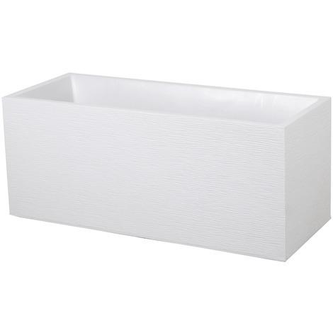 Jardinière Graphit rectangle 99,5x39x43cm - 98L - Blanc cérusé
