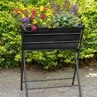 Jardinière haute pliable VegTrug Poppy noir
