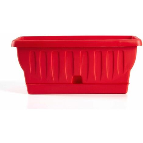 Jardinière - NATURA - 30 cm - Rouge - Livraison gratuite