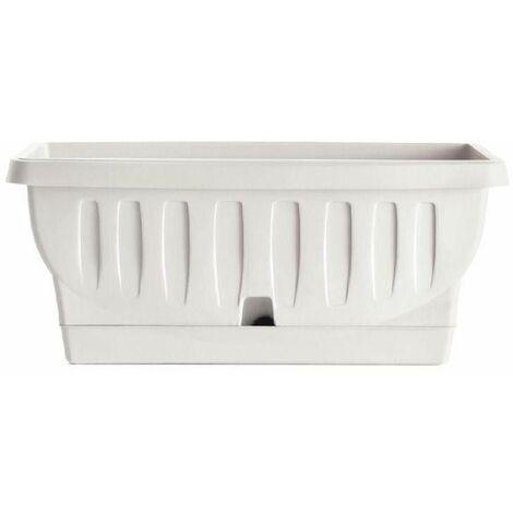 Jardinière - NATURA - 40 cm - Blanc - Livraison gratuite
