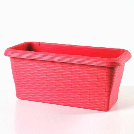 Jardinière - PAGLIA - 50 cm - Rouge - Livraison gratuite