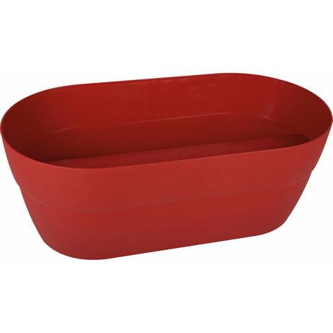 Jardinière plastique cavalière Cancun EDA - 19,5 l - Rouge rubis