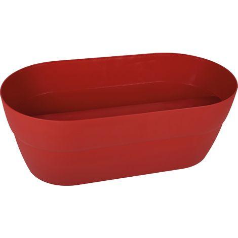 Jardiniere plastique cavaliere cancun rouge rubis 19,5 54,9 x 29 x 20,6