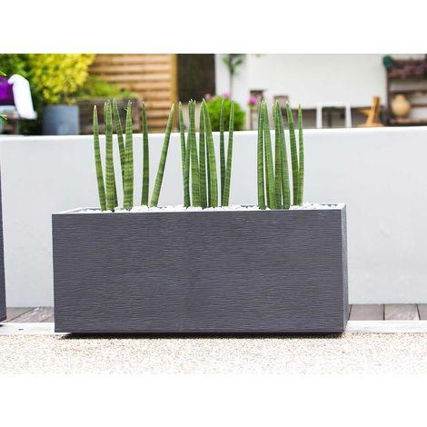 30x30x57cm Bac à fleurs avec système d/'irrigation Brillant bacs à plantes blanc XL