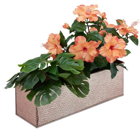 Jardinière, Pot de fleurs, Plantes herbes aromatiques métal, Bac à fleurs rectangle