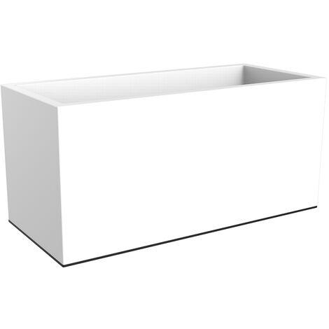 "main image of ""Jardinière rectangulaire Vivo Long Wheels Blanc - elho"""