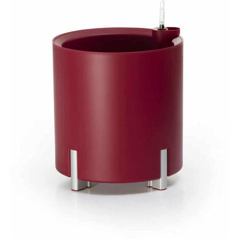 Jardinière ronde arrosage automatique rouge | MONDUM Mediterraneo - 50151011541924
