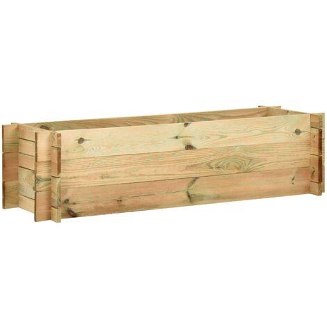 Jardinière surélevée de légumes Bois de pin imprégné 120 cm