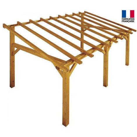 Jardipolys - Auvent en bois 1 pan 15 m2 - SHERWOOD