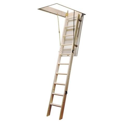 Jardipolys - Escalier escamotable en bois avec caisson 12 marches haut. 283 cm - EKOMAX