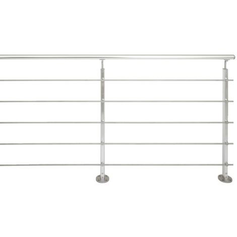 Jardipolys - Kit garde-corps Inoline en aluminium 2m fixation à plat - PACK ALU