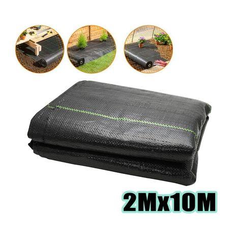 JARDTEC Toile de paillage tissée 90 g / m² Anti-Mauvaises Herbes 2x10m, Anti-UV Géotextile Gravier, Tissu Perméable Résistant à la Déchirure - 2*10M - Comme l'image - Comme l'image