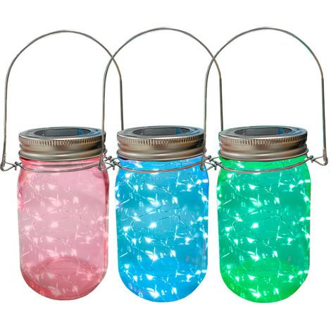 Jarra De Cristal Con Led Solar Exterior Colores Surtidos - NEOFERR