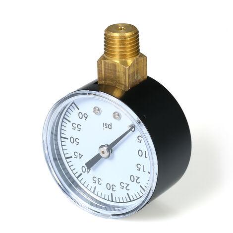"Jauge de pression 0 ~ 60psi 1/4 ""jauge hydraulique TS-50-60PSI"
