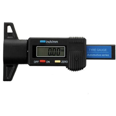 Jauge de profondeur numerique Caliper jauge de profondeur de bande de roulement LCD Jauge de la bande de roulement du pneu,motos ou camions 0-25,4 mm