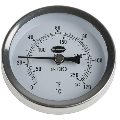 Jauge de température Cadran, échelle: Fahrenheit/Centigrade, Magnétique