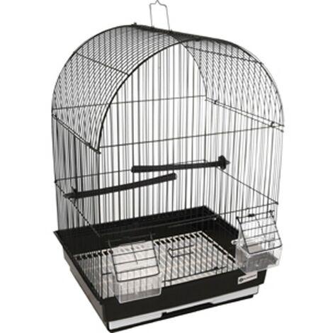 Jaula canaria AlOR 2 negra. 34.5 x 28 x 48.5 cm. para aves.