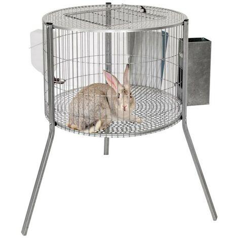Jaula conejos cilindro 69x44 cm