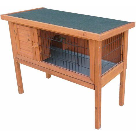 Jaula de animales pequeños jaulas de madera de abeto estable a prueba de agua fieltro puertas de celosía de techo Harms 509089