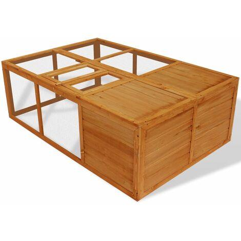 Jaula de animales plegable de madera