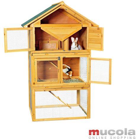 jaula de conejo villa de madera liebres roedores recinto estable pequeño establo animal