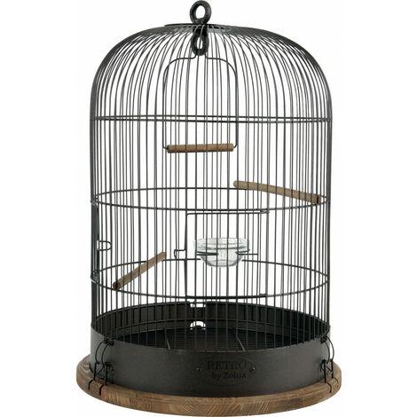JAULA DE LISTADO RETRO. ø 38 cm x altura 55 cm. para las aves.