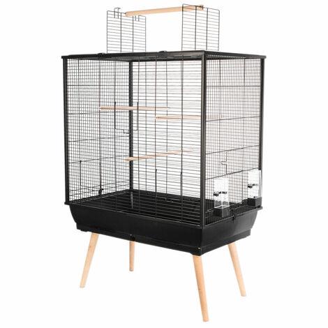 Jaula de pájaros NEO JILI. Color negro. 78 x 48 x altura 80 cm.