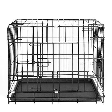 Jaula de Transporte plegable Jaula para perros caja de transporte 76x47x53cm( 30pulgada)
