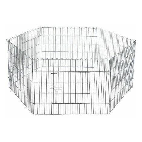 Jaula exposición hexagonal mediana
