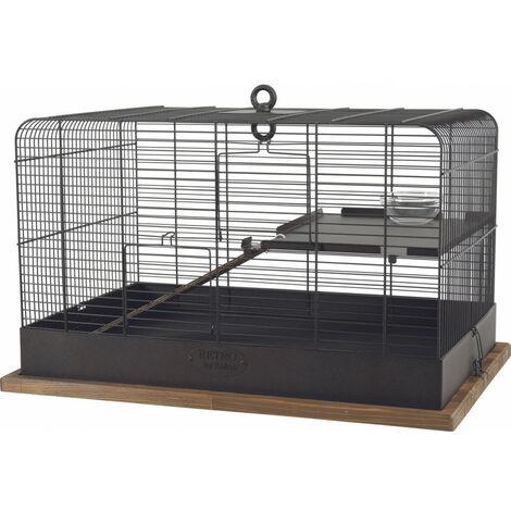 Jaula Fernand retro. dimensión interna 35 x 35 x 55 cm. para pequeños roedores.