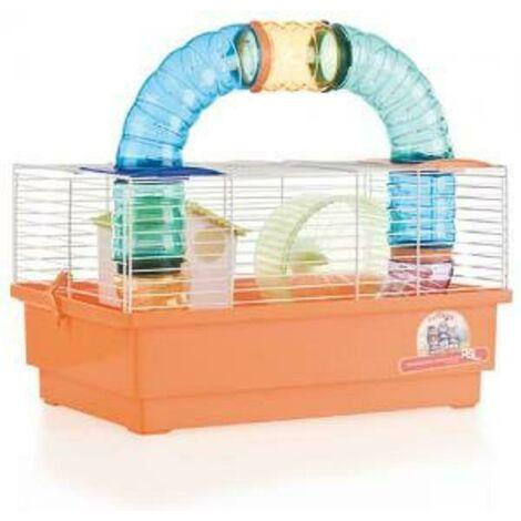 Jaula Hamster Cria Blanca- 1 Piso con TUBOS