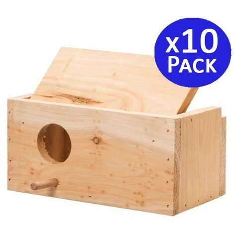 Jaula madera pájaros tamaño S. 10 unidades