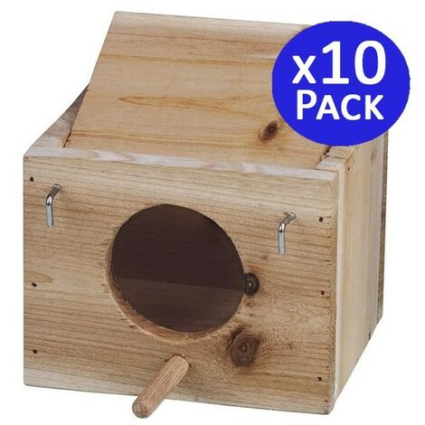 Jaula madera pájaros tamaño XS. 10 unidades