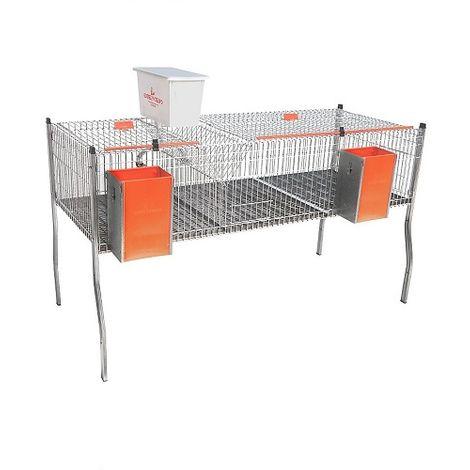 Jaula para Conejos Apilable Modelo AURIA-3 POLIVALENTE con Cazoleta. 2 Departamentos en 1 Piso.