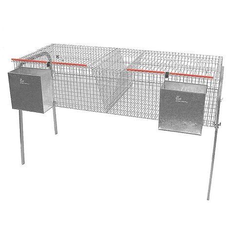Jaula para Conejos Modelo ECONOMICA-8 con Bebedero Tipo Cazoleta. 2 Departamentos de Engorde en un Piso.