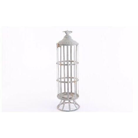 Jaula para decoración - Metal envejecido (17x60 cm)