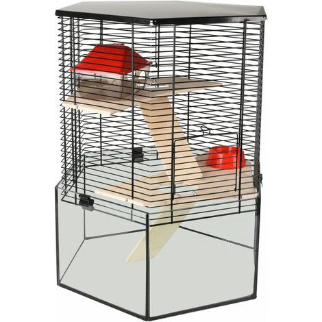 Jaula para el hexágono del hámster VITRU. 43.5 x 52 cm. para roedores