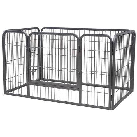 Jaula para mascotas Cercado Valla parque Corral para perros parque para mascotas rejilla para cachorros recinto al aire libre